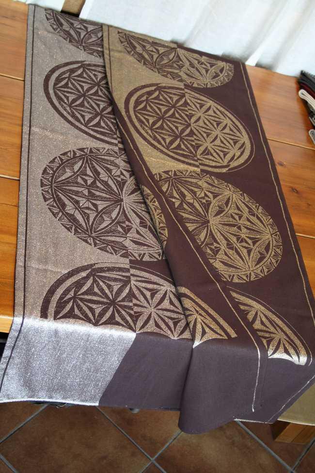 Etoffes et tissus de montagne for Chemin de table taupe